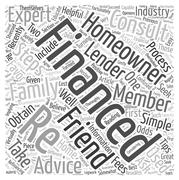 Seek Recommendations When Re Financing word cloud concept Stock Illustration