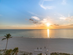 3 part sunset from beach timelapse 4k Stock Footage