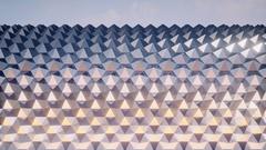 Hexagon Background Loop Full HD 3d Render Stock Footage