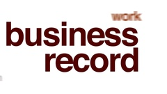 Business record animated word cloud. Stock Footage