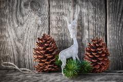 Home decor pine cones Stock Photos