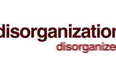 Disorganization animated word cloud. Stock Footage