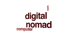 Digital nomad animated word cloud. Stock Footage