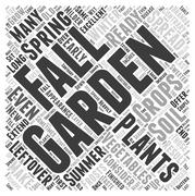 Fall Gardening word cloud concept Stock Illustration
