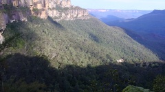 Landscape of The Three Sisters  Blue Mountains Australia  Stock Footage