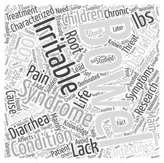 Irritable bowel syndrome in children word cloud concept Stock Illustration