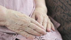 Flabby wrinkled skin of an old woman Stock Footage