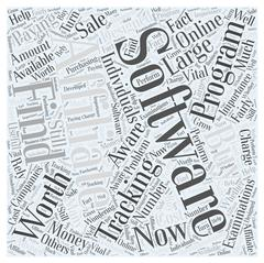 Paying for Affiliate Tracking Software Is It Worth the Buy word cloud concept Stock Illustration