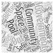 Getting the Government out of Community Service word cloud concept Stock Illustration