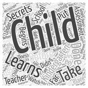 Kindergarten Secrets word cloud concept Stock Illustration