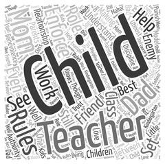 Making the Kindergarten Teacher a Friend and not an Enemy word cloud concept Stock Illustration