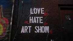 Street Art in Manhattan New York City Stock Footage
