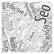 Low cost yellow page internet advertising word cloud concept Piirros