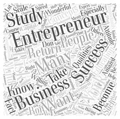 Successful entrepreneur word cloud concept Stock Illustration