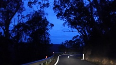 Driving at dusk sky Stock Footage