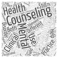Mental health counseling word cloud concept Stock Illustration