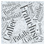 The Potential Pitfalls of a Coffee Franchise word cloud concept Stock Illustration