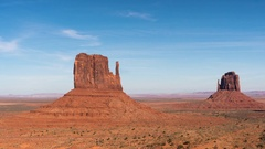 Time lapse in Monument Valley during day time. Stock Footage