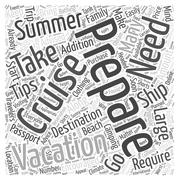 Preparing For Your Summer Vacation word cloud concept Stock Illustration
