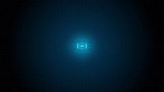 Futuristic Techno Ripple Blue Shine Circuit Board. Stock Footage