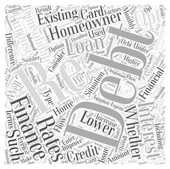 Re Financing To Consolidate Debt word cloud concept Stock Illustration