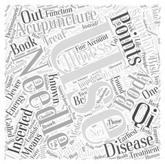 What is Acupuncture word cloud concept Piirros