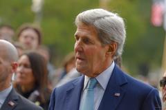 Visit of John Kerry to Argentina Stock Photos