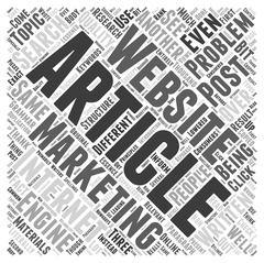 Problems in article marketing word cloud concept Stock Illustration