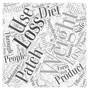 Weight Loss Patch word cloud concept Stock Illustration