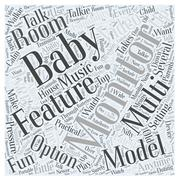 Setting Up Multi room Baby Monitors word cloud concept Stock Illustration