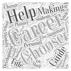 Career A Self Help Guide word cloud concept Stock Illustration