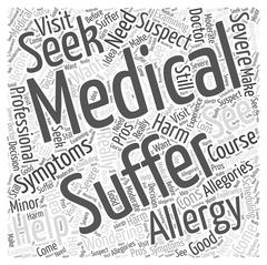 Suffering from Allergies Should You See a Medical Professional word cloud concep Piirros