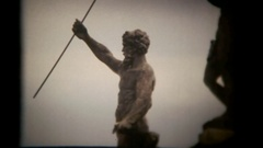 Vie statue generic silhouette Stock Footage