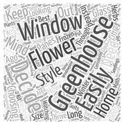 Greenhouse window word cloud concept Stock Illustration