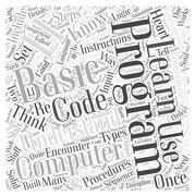 Computer programming fundamentals word cloud concept Stock Illustration
