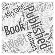 Getting a Book Published Common Mistakes You Want to Avoid word cloud concept Stock Illustration