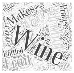 The Process Of Manufacturing Wine word cloud concept Piirros