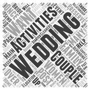 Post wedding activities word cloud concept Stock Illustration