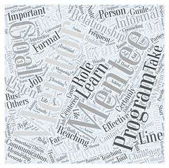 Mentoring relationships word cloud concept Stock Illustration
