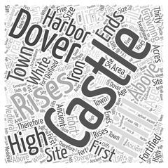 Dover Castle word cloud concept Stock Illustration