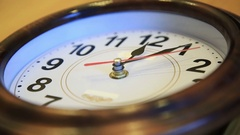 Time lapse Time flies. Time runs fast on the wall clock. video symbolizing fast Stock Footage