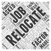 Should You Relocate If Asked By Your Employer word cloud concept Stock Illustration