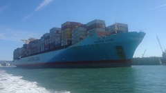 Maersk Alfirk Bow Stock Footage