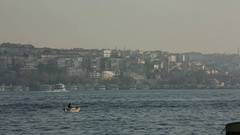 Tukey: view of Istanbul across the Bosphorus Stock Footage