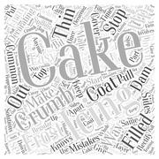 Easy Solutions To Common Cake Decorating Mistakes word cloud concept Stock Illustration