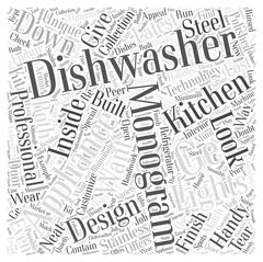 GE Monogram Dishwashers Why They Are Handy word cloud concept Stock Illustration