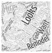 Should You Hire a Professional to Remodel Your Bathroom word cloud concept Stock Illustration
