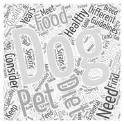 Guidelines to Choose a Healthy Dog Diet for Your Pet word cloud concept Stock Illustration
