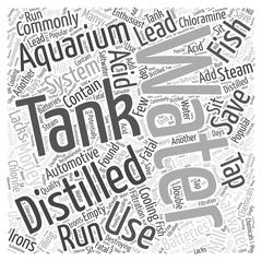 Save Money on Distilled Water in Saltwater Aquariums word cloud concept Stock Illustration