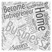 Work at home based business entrepreneur word cloud concept Stock Illustration